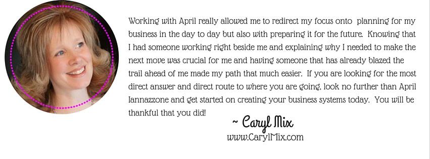 caryl mix coaching with April Iannazzone